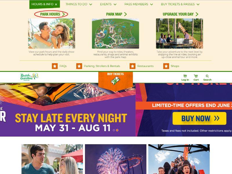 segundo passo - Busch Gardens Tampa Horario De Funcionamento